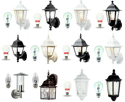Traditional Garden Wall Lights / Outdoor Lanterns - Motion Sensor / LED Optional • 19.99£