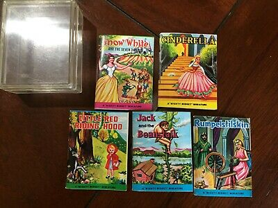 """£16.99 • Buy   """"Mighty Midget"""" Miniature 2"""" Books Hong Kong 5 Books And Case Snow White"""