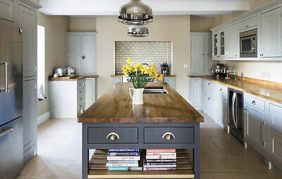 SOLID OAK WORKTOP! 1M 2M 3M, 40mm/27mm/20mm Thick Oiled | Unoiled | Top Quality  • 74£
