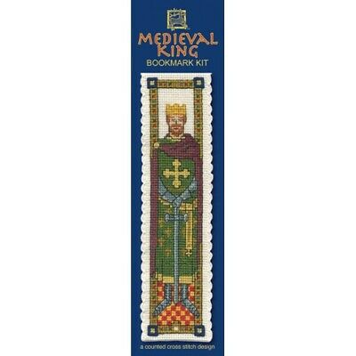 £8.15 • Buy Complete Cross Stitch Bookmark Kit - Medieval King Bookmark
