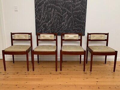 AU120 • Buy 4 X Chiswell Teak Mid Century Dining Chairs Retro Vintage MCM $120/chair