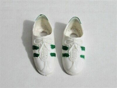 $12 • Buy Vintage 1970s Kenner Dusty Doll White Green Tennis Shoes