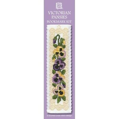 £8.15 • Buy Complete Cross Stitch Bookmark Kit -  Victorian Pansies Bookmark