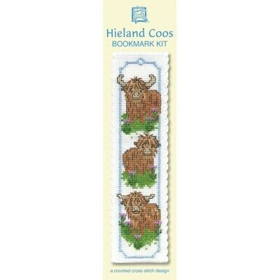 £8.15 • Buy Complete Cross Stitch Bookmark Kit -  Wee Hieland Coos Bookmark