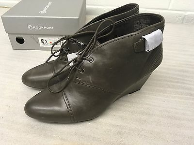 Rockport Women's Nelsina Wedge Boots Brown Size 8 43 New Rrp £100 R5 • 14.99£