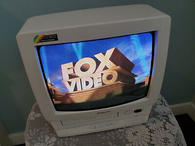 $89.99 • Buy Panasonic Omnivision 14 Inch TV/VCR Combo VHS Player PV-M1356W No Remote Works