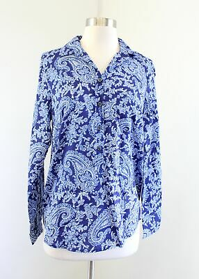 £14.19 • Buy J Crew Womens Printed Voile Popover Shirt Blouse Blue Paisley Print Size XS