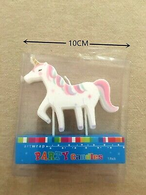 AU6.25 • Buy Large Unicorn Candle Girls Birthday Party Supplies Cake Topper