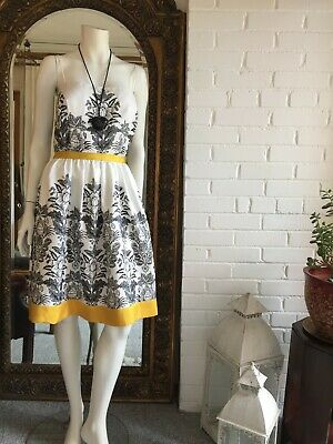 Jessica Howard Summer Dress Black White And Yellow Size 20 • 19£