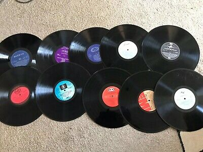 """Bundle 10 X 12"""" Vinyl LP Records For Upcycling Crafting Crafts Different Labels • 7.99£"""