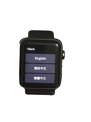 $ CDN177.36 • Buy IWatch Series 3 Space Black Stainless Steel Cellular 42mm Case With Black Band