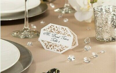 David Tutera White Paper Lace Place Cards 25 Pc Wedding Anniversary Party - NEW • 5.71£