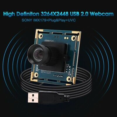£59.90 • Buy Camera Module Board 8MP IMX179 Webcam Video With 75 Degree No Distortion Lens