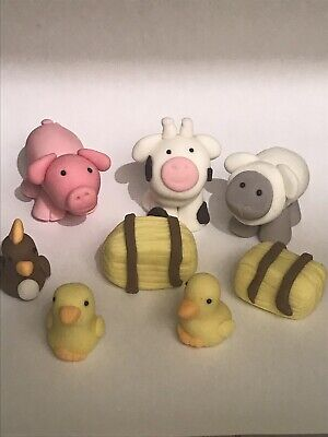£12 • Buy Edible Farmyard, Cow, Sheep, Pig, Cake Decoration, Cake Toppers