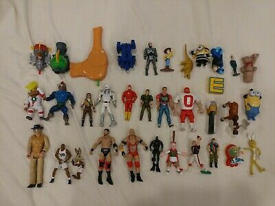 $ CDN40.14 • Buy 34 Vintage 1980's 1990's To Modern Action Figure And Toy Lot He-Man GI Joe WCW