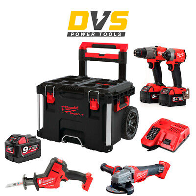 £904.27 • Buy Milwaukee M18 18V 4 Piece Fuel Cordless Kit  2x 5.0Ah 1x 9Ah Batteries & Charger
