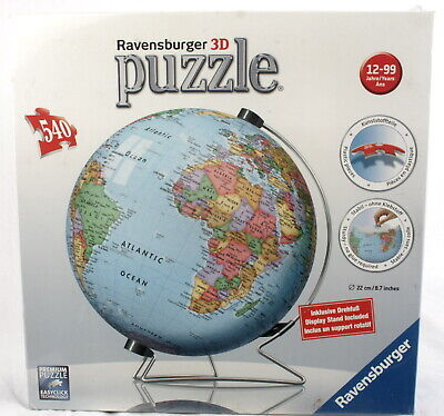 $25.29 • Buy Ravensburger 3D Puzzle - Globe  540 Pieces NEW Sealed  Item 124336