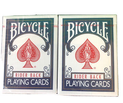 2 X Magician Bicycle Rider Back 807 Playing Cards Decks Classic Tuck Box BLUE • 5.75£