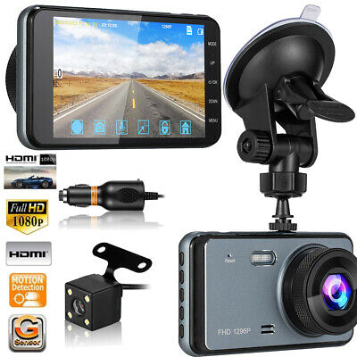 AU133.99 • Buy Dash Cam For Cars Front And Rear Dual Cameras FHD 1296P W/ Night Vision & 4 LCD