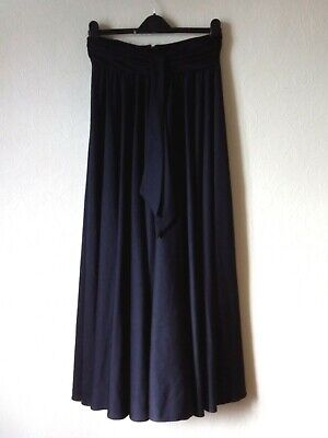 £7 • Buy After Six By Ronald Joyce LONG BLACK FLARED SKIRT UK14 W30  Ruched Waistband