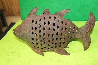 Iron Fish Antique Handmade Fish Tea Light Candle Figurine Statue Decor FOLK Art • 55.25£