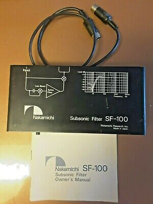 $299.99 • Buy Vintage Nakamichi Subsonic Filter SF-100 Home Stereo Audiophile Component
