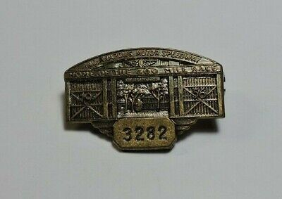 $215 • Buy Indy 500 Sam Hanks Personal 1956 Bronze Pit Badge