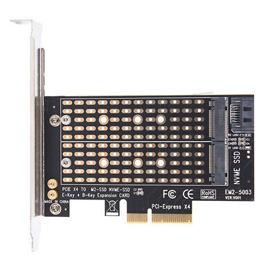 AU25.33 • Buy PCIe X4 To NGFF M.2 NVME PCIe M Key SATA B Key 2230 To 2280 SSD Adapter_AU
