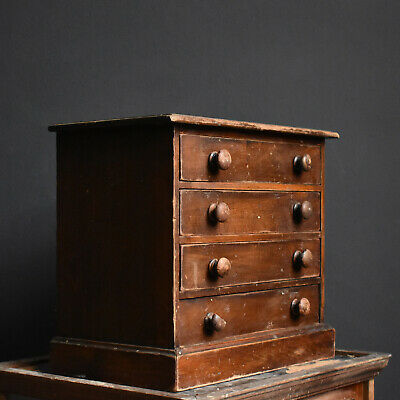 Mahogany Collectors Drawers Victorian Cabinet Antique Miniature Chest  • 135£