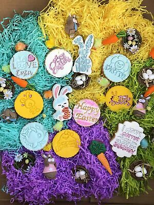 Embossing For Cupcake And Cake - Stamps Sugar Paste Easter Cookies • 4.50£