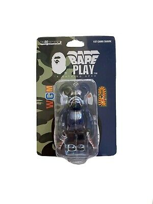 $149.98 • Buy Bape Bearbrick 1st Camo Shark 100% BLUE 2016 Limited Be@rbrick Medicom Toy Rare