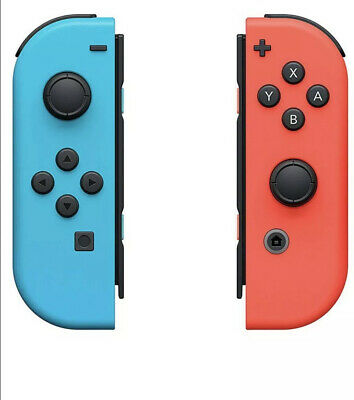 $57 • Buy Nintendo Switch Joy-Con Controllers Neon Red And Neon Blue - Genuine Controllers