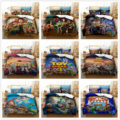 $58.99 • Buy 3D Disney Toy Story Kids Duvet Cover Bedding Set Pillowcase Without Comforter