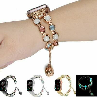 $ CDN11.41 • Buy Luminou Bead Bracelet Watch Band Strap Suitable For Apple 1/2/3/4 Series 38-44mm