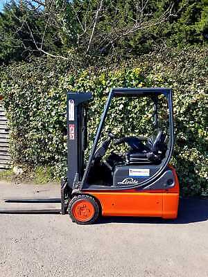 £5800 • Buy Linde E14 Electric Counterbalance Forklift Truck/Triple Mast/ Container Specs