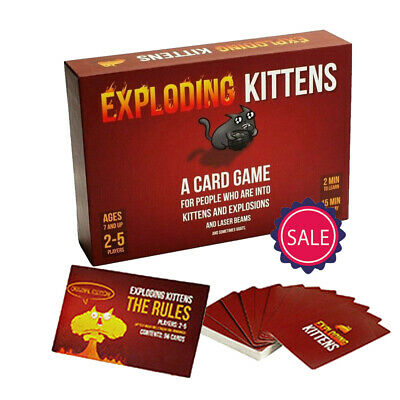 AU18.99 • Buy Exploding Kittens Card Game 2-5 Players Toy Game Poker Table Games For Children