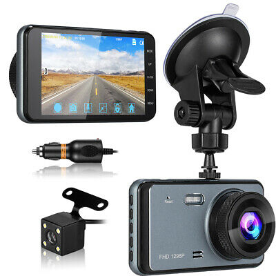 AU133.99 • Buy FHD 1296P Dash Cam For Cars Front And Rear W/ WDR, Night Vision, 4 Inch Display