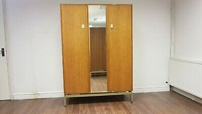 Vintage Mid Century G Plan Limba Wardrobe Armoire For E Gomme 1950s With Mirror • 250£