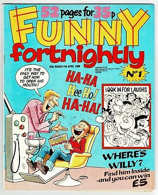 Funny Fortnightly Comic #1 March 1989 Whoopee Cheeky Buster Whizzer Chips Krazy • 1£