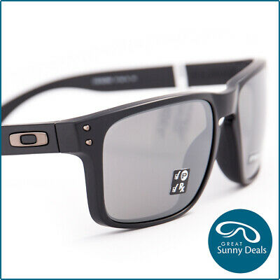 AU199.95 • Buy NEW Oakley Holbrook Polarised Matte Black Prizm Black Iridium Lens (9102-D6) Sun