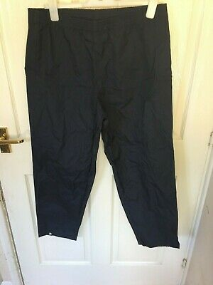 Unisex New Peter Storm Navy Blue Waterproof Trousers Size 27-29 Waist • 12£