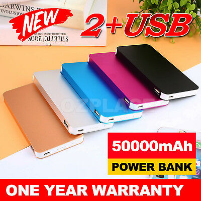 AU15.85 • Buy 50000mAh External Power Bank Dual USB Portable Battery Charger For Mobile Phone