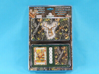 £5.80 • Buy River's Edge Deer Playing Cards W/ Dice In Collectable Tin 2 Decks 5 Dice Sealed