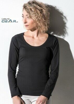 Womens Casual YOGA TOP Ladies Lounge Fitness Activewear Long Sleeve Base Layer • 8.09£