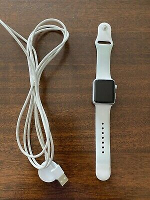 $ CDN35.19 • Buy Apple Watch Series 1 38mm  White Sport Band - Cracked Screen - Working Condition