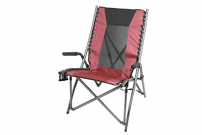 $44.88 • Buy Ozark Trail Bungee Mesh High Back Chair With Swivel Cup Holder, Red