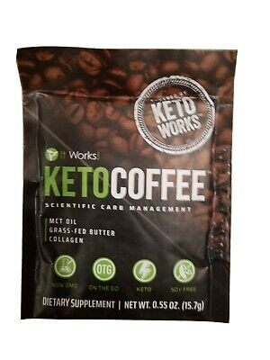 $20 • Buy It Works! KetoCoffee - Keto Coffee - 5 Single Serve Packets - Carb Management