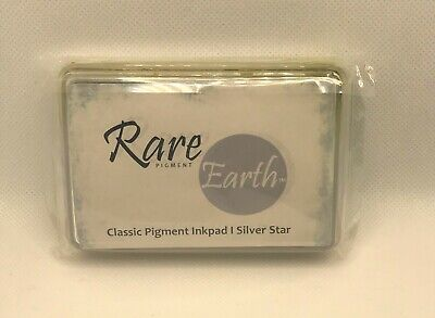 Rare Earth Pigment Ink Pad - Silver Star - (Used Demo Item) - Craft Stamping • 5.99£