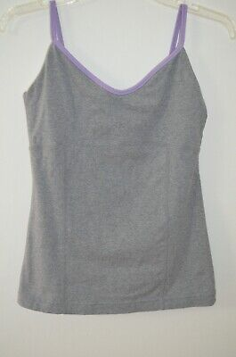 $ CDN39.62 • Buy Lululemon Gray & Purple Built In Bra Athletic Yoga Top Size 10