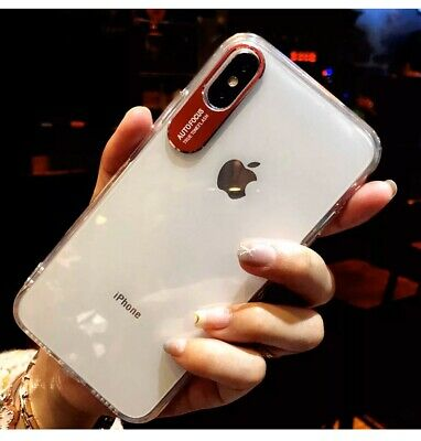 For IPhone Xs Max Case Shock Proof Clear Soft TPU Cover Slim  Phone Shell Red • 1.79£